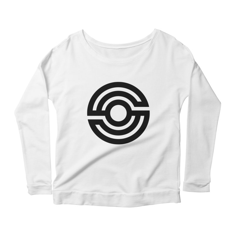 Handpan S Logo (Black) Women's Scoop Neck Longsleeve T-Shirt by Handpan Merch (T-shirts, Hoodies, Accessories)