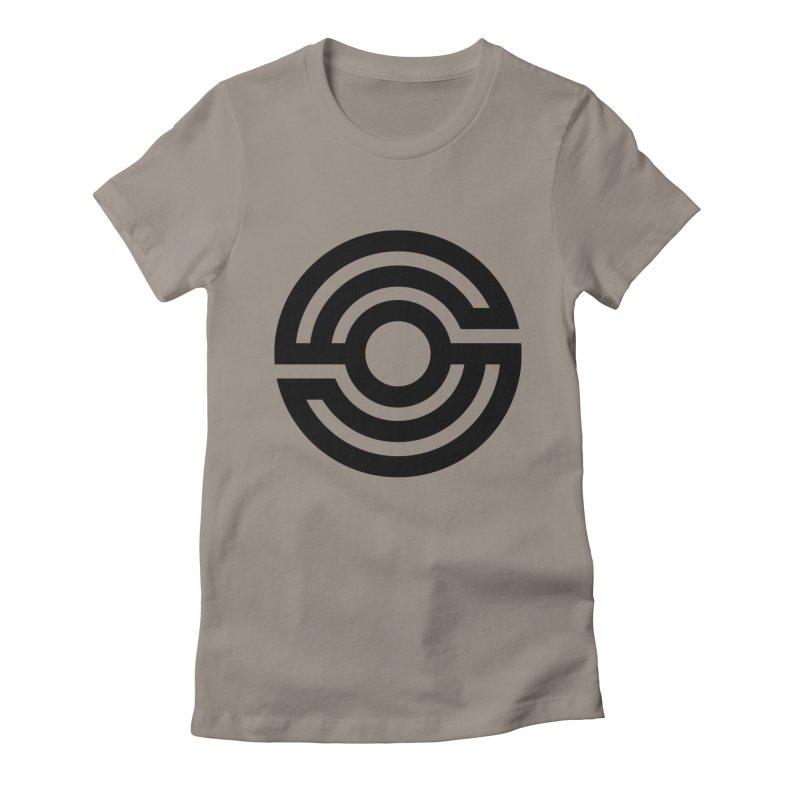 Handpan S Logo (Black) Women's Fitted T-Shirt by Handpan Merch (T-shirts, Hoodies, Accessories)