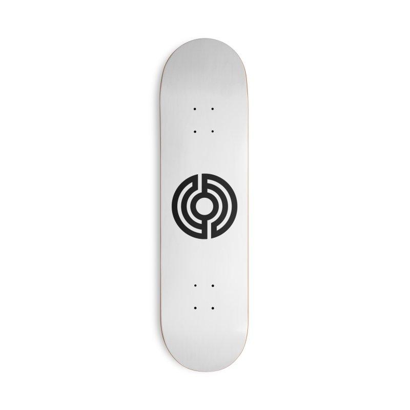 Handpan S Logo (Black) Accessories Deck Only Skateboard by Handpan Merch (T-shirts, Hoodies, Accessories)