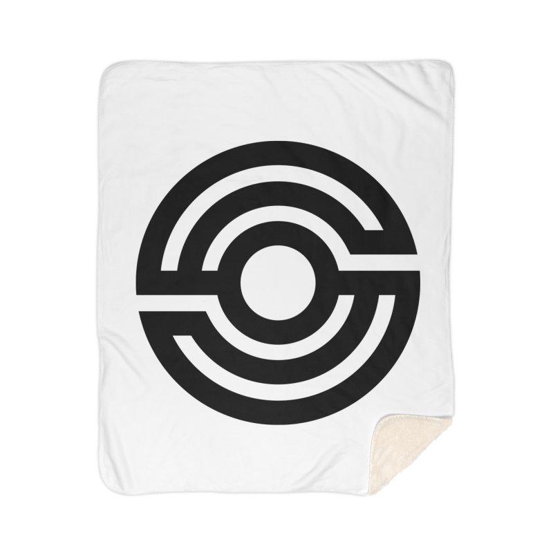 Handpan S Logo (Black) Home Sherpa Blanket Blanket by Handpan Merch (T-shirts, Hoodies, Accessories)