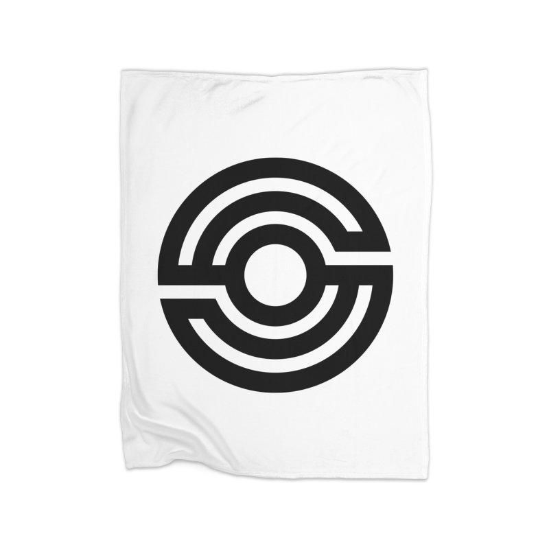 Handpan S Logo (Black) Home Fleece Blanket Blanket by Handpan Merch (T-shirts, Hoodies, Accessories)