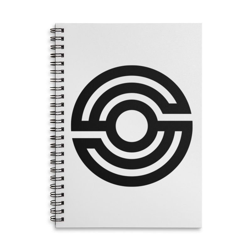 Handpan S Logo (Black) Accessories Lined Spiral Notebook by Handpan Merch (T-shirts, Hoodies, Accessories)