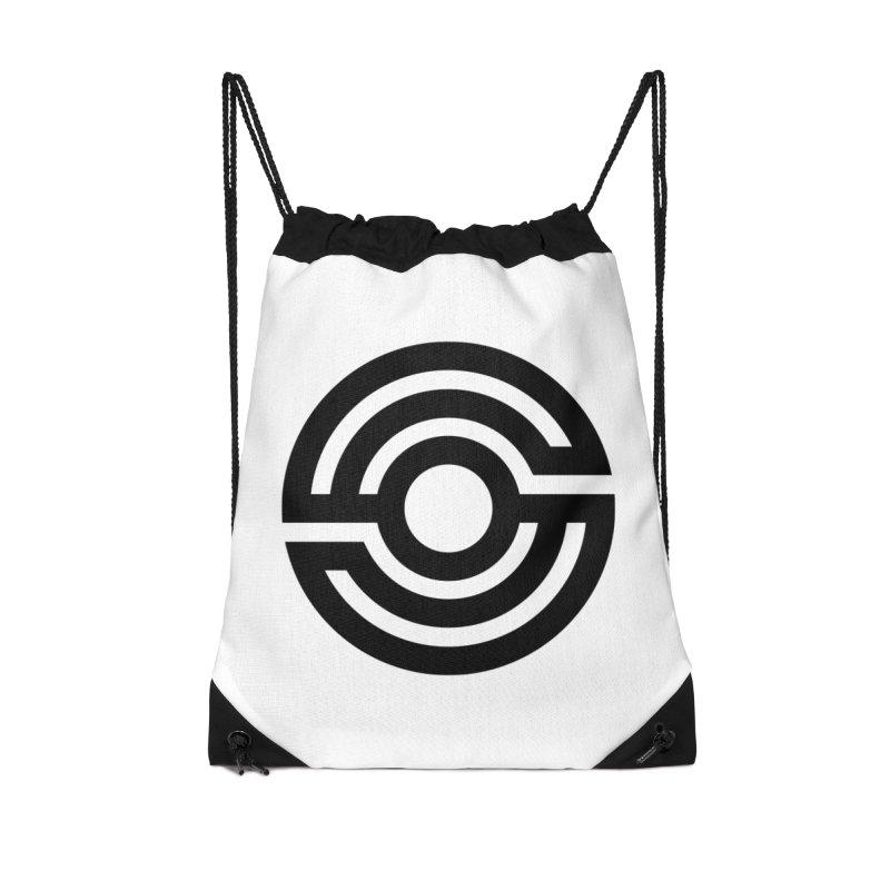Handpan S Logo (Black) Accessories Drawstring Bag Bag by Handpan Merch (T-shirts, Hoodies, Accessories)