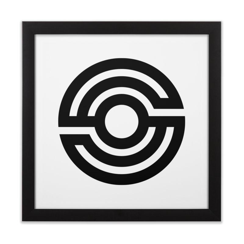 Handpan S Logo (Black) Home Framed Fine Art Print by Handpan Merch (T-shirts, Hoodies, Accessories)