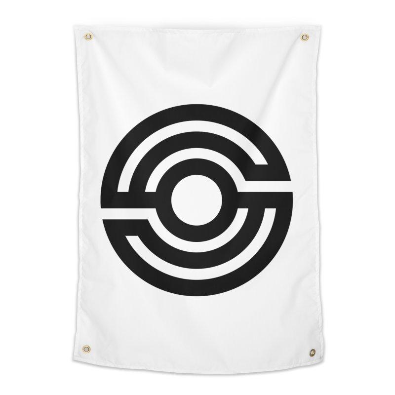 Handpan S Logo (Black) Home Tapestry by Handpan Merch (T-shirts, Hoodies, Accessories)