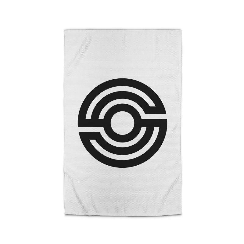 Handpan S Logo (Black) Home Rug by Handpan Merch (T-shirts, Hoodies, Accessories)
