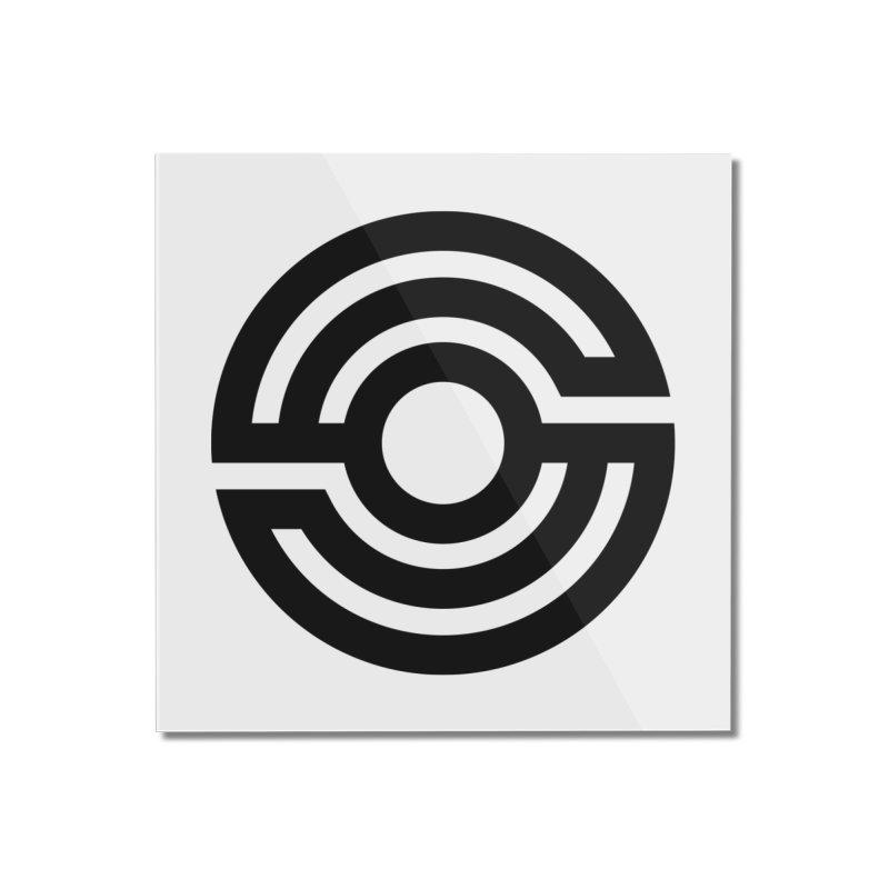 Handpan S Logo (Black) Home Mounted Acrylic Print by Handpan Merch (T-shirts, Hoodies, Accessories)