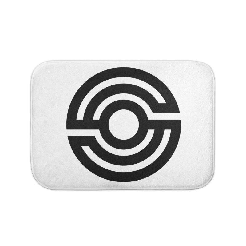 Handpan S Logo (Black) Home Bath Mat by Handpan Merch (T-shirts, Hoodies, Accessories)