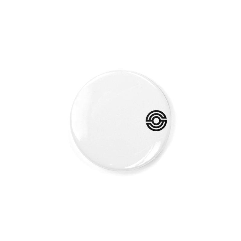 Handpan S Logo (Black) Accessories Button by Handpan Merch (T-shirts, Hoodies, Accessories)