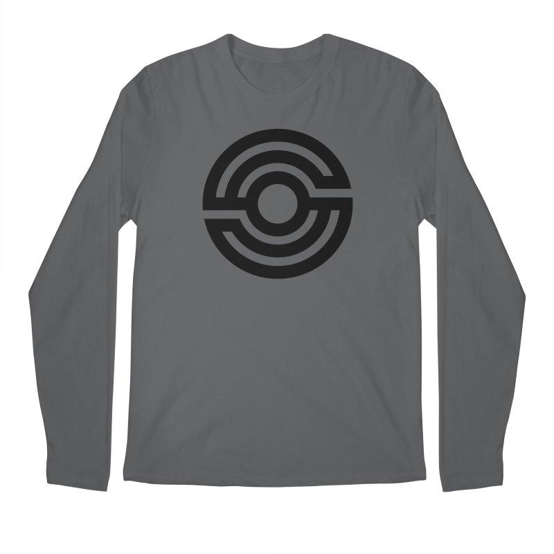 Handpan S Logo (Black) Men's Longsleeve T-Shirt by Handpan Merch (T-shirts, Hoodies, Accessories)