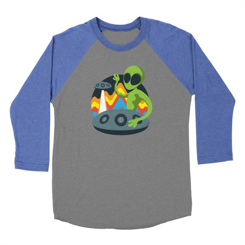 Green Alien Playing Handpan Women's Baseball Triblend Longsleeve T-Shirt by Handpan Merch (T-shirts, Hoodies, Accessories)