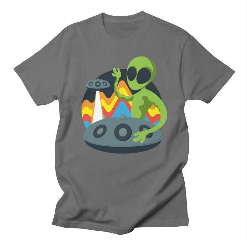 Green Alien Playing Handpan Men's T-Shirt by Handpan Merch (T-shirts, Hoodies, Accessories)