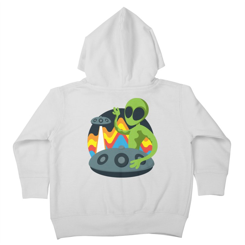 Green Alien Playing Handpan Kids Toddler Zip-Up Hoody by Handpan Merch (T-shirts, Hoodies, Accessories)