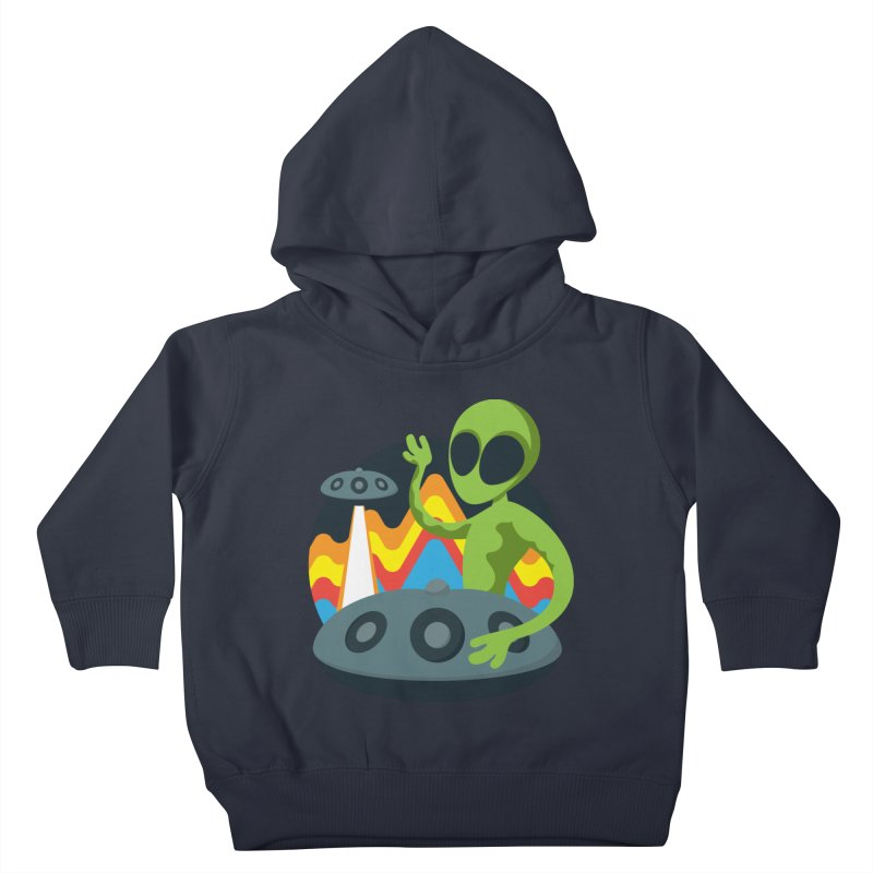Green Alien Playing Handpan Kids Toddler Pullover Hoody by Handpan Merch (T-shirts, Hoodies, Accessories)