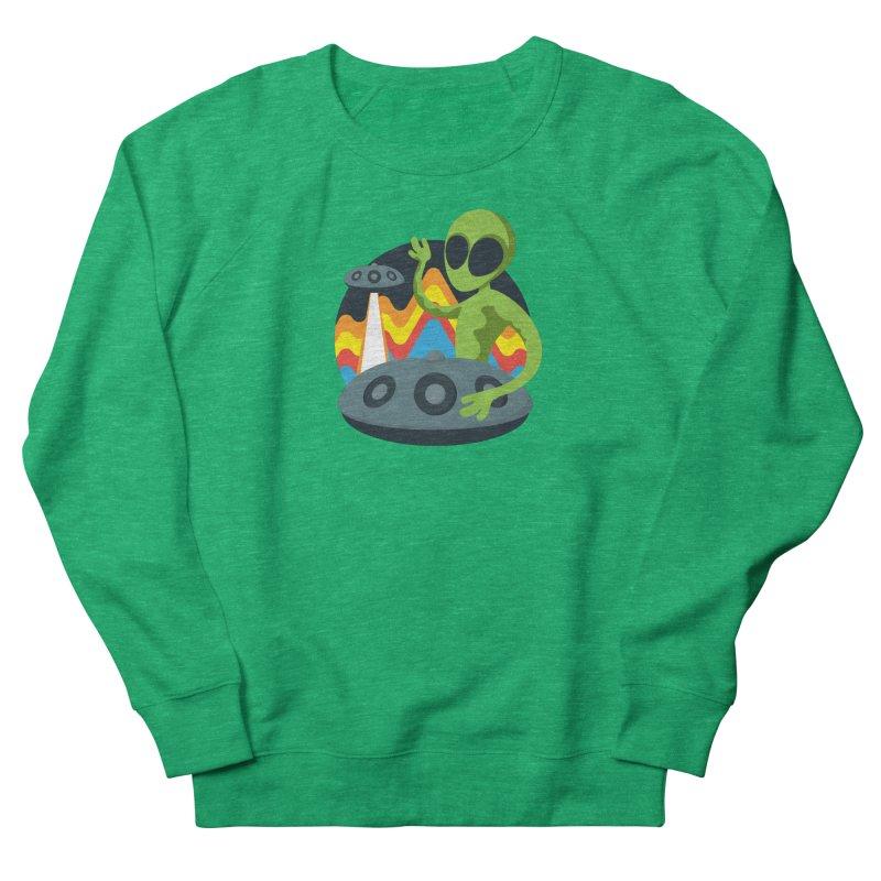 Green Alien Playing Handpan Women's Sweatshirt by Handpan Merch (T-shirts, Hoodies, Accessories)