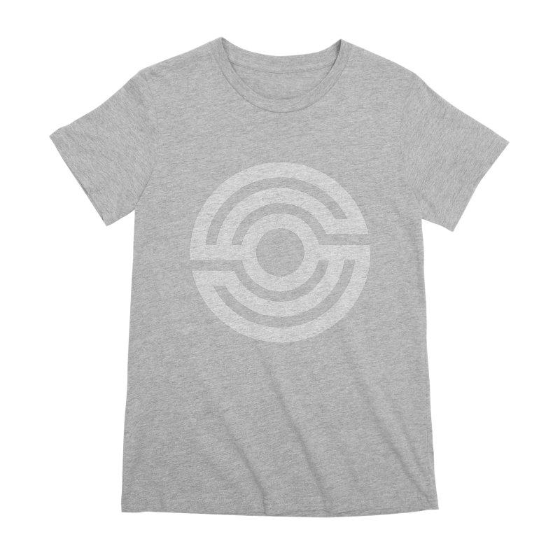 Handpan S Logo (White) Women's Premium T-Shirt by Handpan Merch (T-shirts, Hoodies, Accessories)
