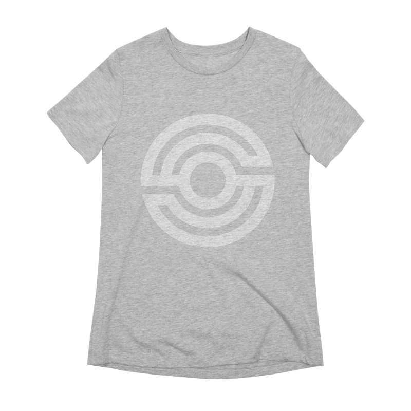 Handpan S Logo (White) Women's Extra Soft T-Shirt by Handpan Merch (T-shirts, Hoodies, Accessories)