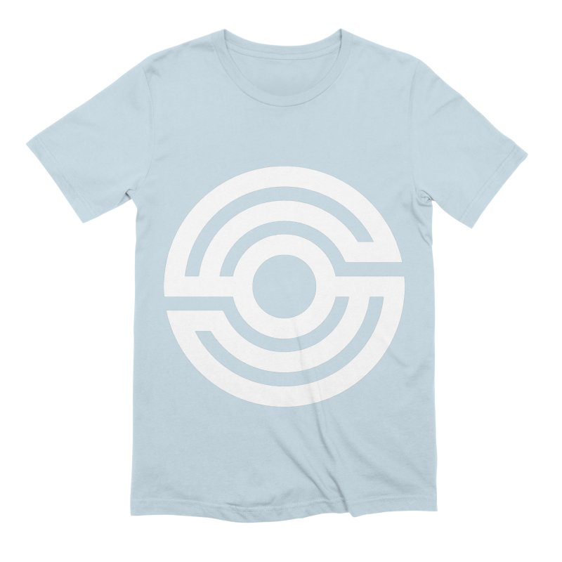 Handpan S Logo (White) Men's Extra Soft T-Shirt by Handpan Merch (T-shirts, Hoodies, Accessories)