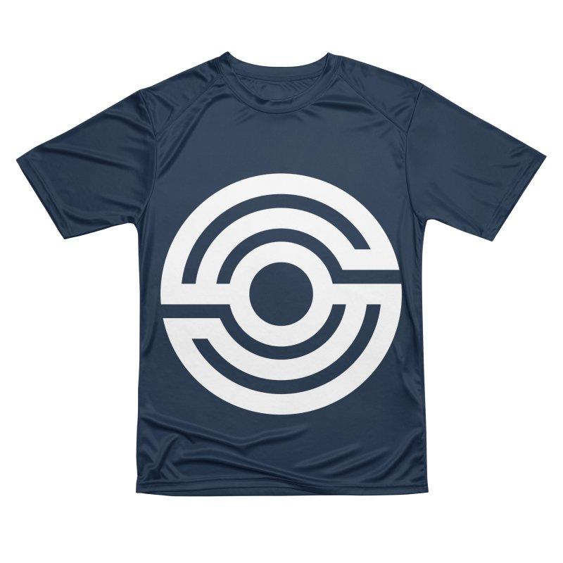 Handpan S Logo (White) Men's Performance T-Shirt by Handpan Merch (T-shirts, Hoodies, Accessories)
