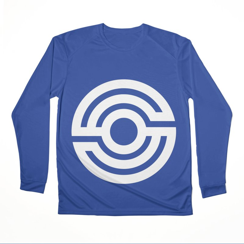 Handpan S Logo (White) Women's Performance Unisex Longsleeve T-Shirt by Handpan Merch (T-shirts, Hoodies, Accessories)