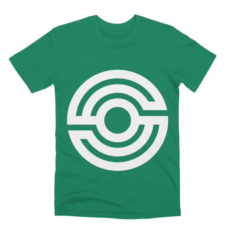 Handpan S Logo (White) Men's Premium T-Shirt by Handpan Merch (T-shirts, Hoodies, Accessories)