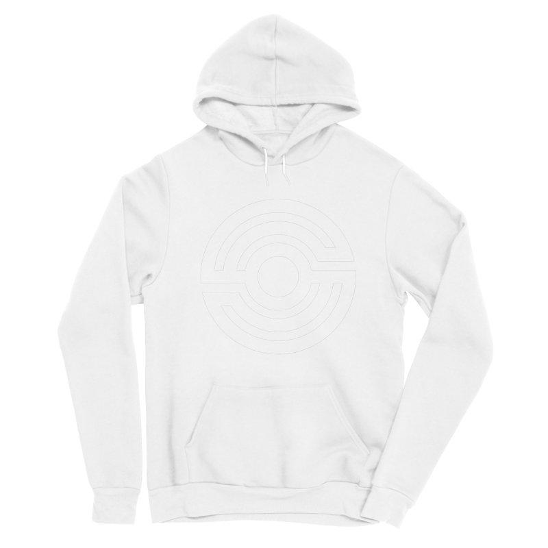 Handpan S Logo (White) Men's Sponge Fleece Pullover Hoody by Handpan Merch (T-shirts, Hoodies, Accessories)
