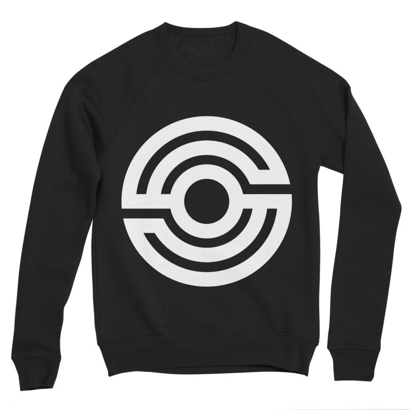 Handpan S Logo (White) Men's Sponge Fleece Sweatshirt by Handpan Merch (T-shirts, Hoodies, Accessories)