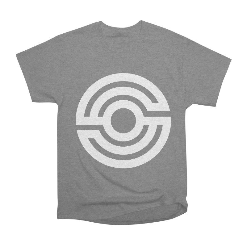 Handpan S Logo (White) Men's Heavyweight T-Shirt by Handpan Merch (T-shirts, Hoodies, Accessories)