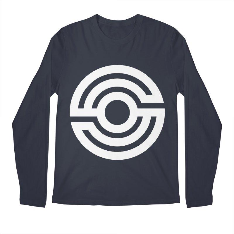 Handpan S Logo (White) Men's Regular Longsleeve T-Shirt by Handpan Merch (T-shirts, Hoodies, Accessories)