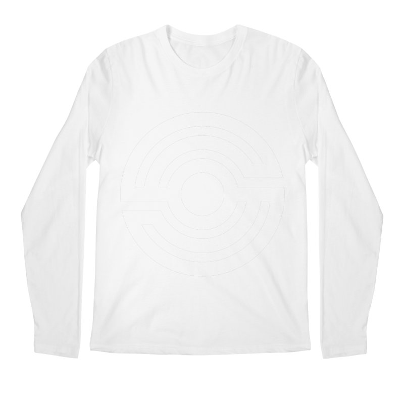 Handpan S Logo (White) Men's Regular Longsleeve T-Shirt by Handpan Merch (T-shirts, Hoodies, Accessories)
