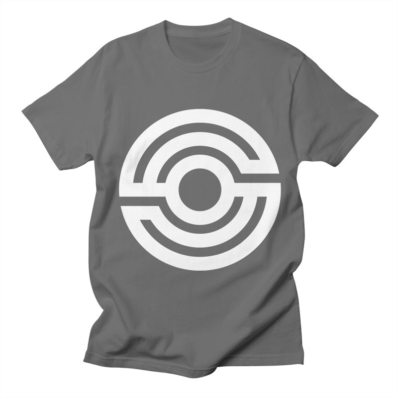 Handpan S Logo (White) Men's T-Shirt by Handpan Merch (T-shirts, Hoodies, Accessories)