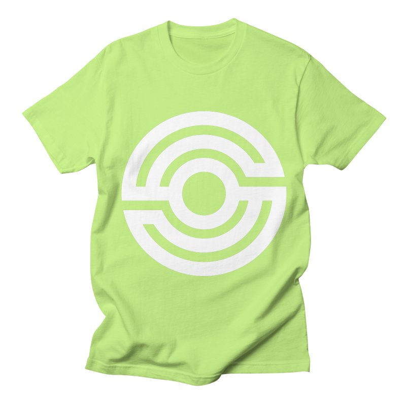 Handpan S Logo (White) Women's Regular Unisex T-Shirt by Handpan Merch (T-shirts, Hoodies, Accessories)