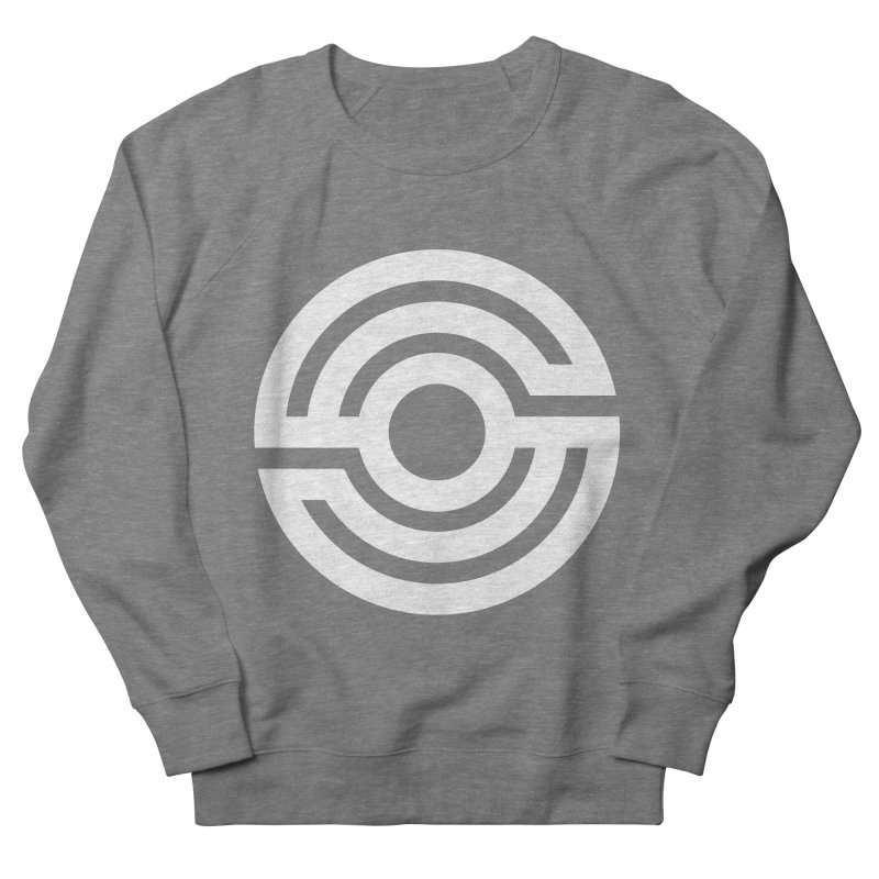 Handpan S Logo (White) Women's French Terry Sweatshirt by Handpan Merch (T-shirts, Hoodies, Accessories)