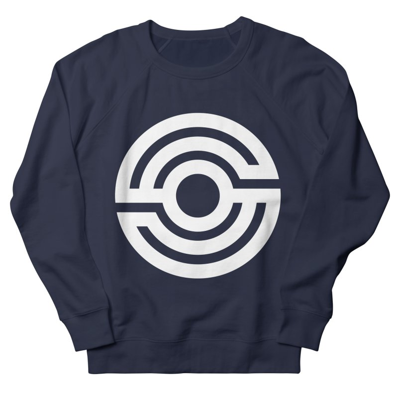 Handpan S Logo (White) Women's French Terry Sweatshirt by Handpan Merch (T-shirts, Hoodies, Accessories)