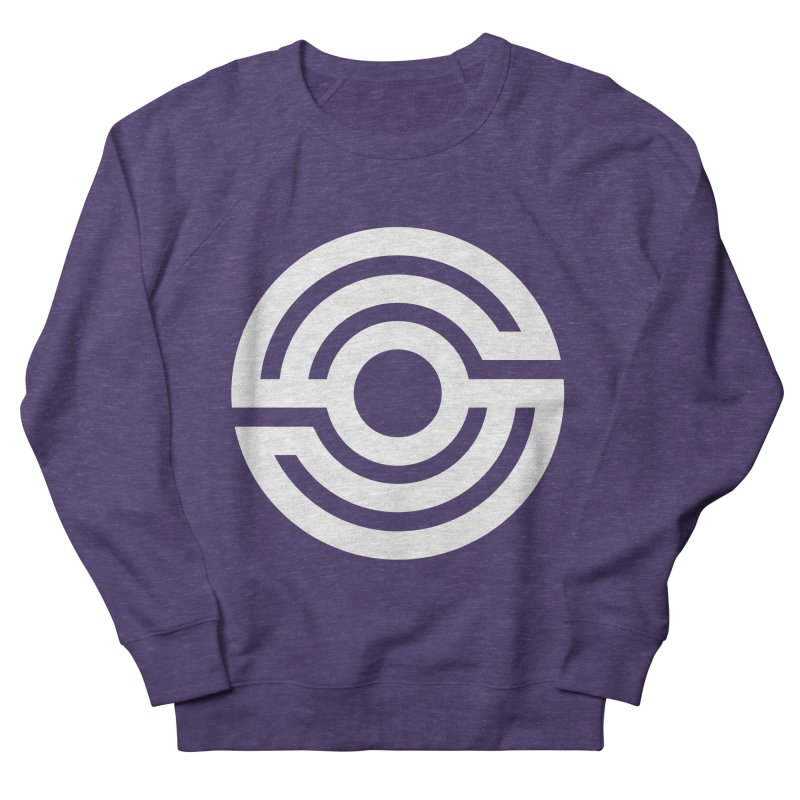 Handpan S Logo (White) Men's French Terry Sweatshirt by Handpan Merch (T-shirts, Hoodies, Accessories)