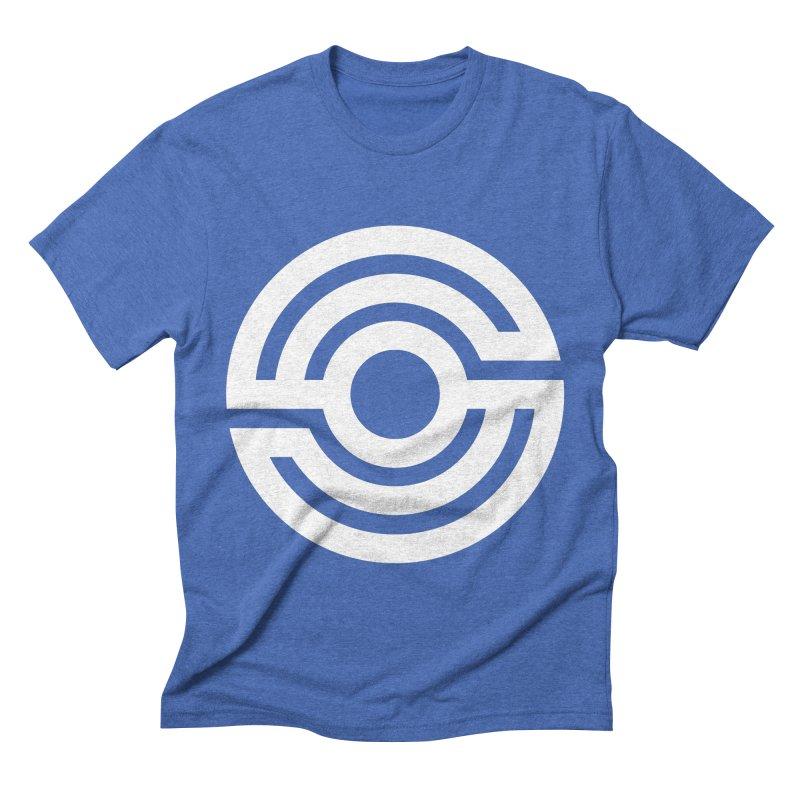 Handpan S Logo (White) Men's Triblend T-Shirt by Handpan Merch (T-shirts, Hoodies, Accessories)