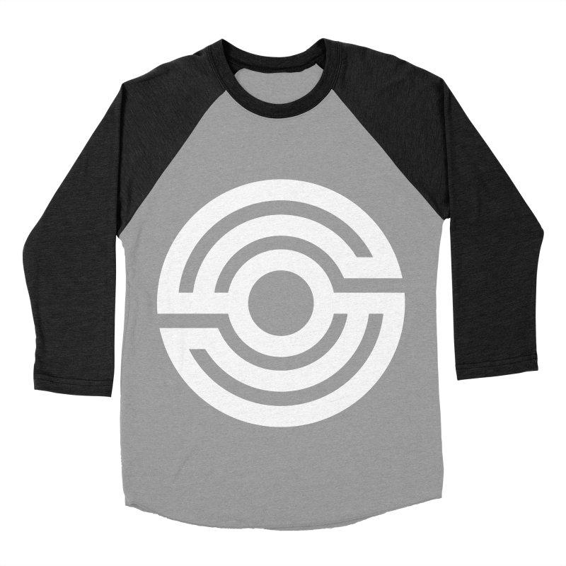 Handpan S Logo (White) Men's Baseball Triblend Longsleeve T-Shirt by Handpan Merch (T-shirts, Hoodies, Accessories)
