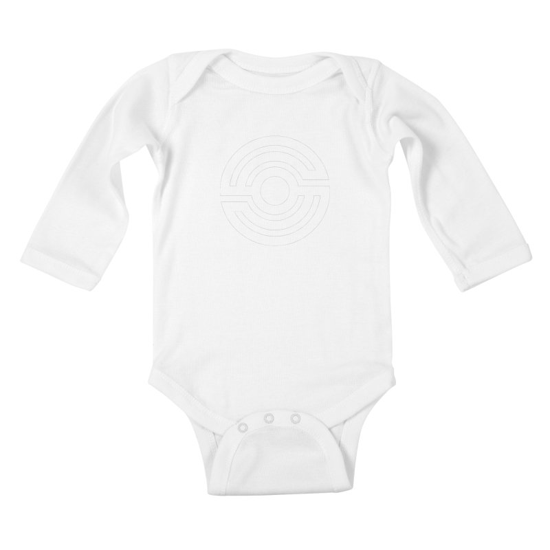 Handpan S Logo (White) Kids Baby Longsleeve Bodysuit by Handpan Merch (T-shirts, Hoodies, Accessories)