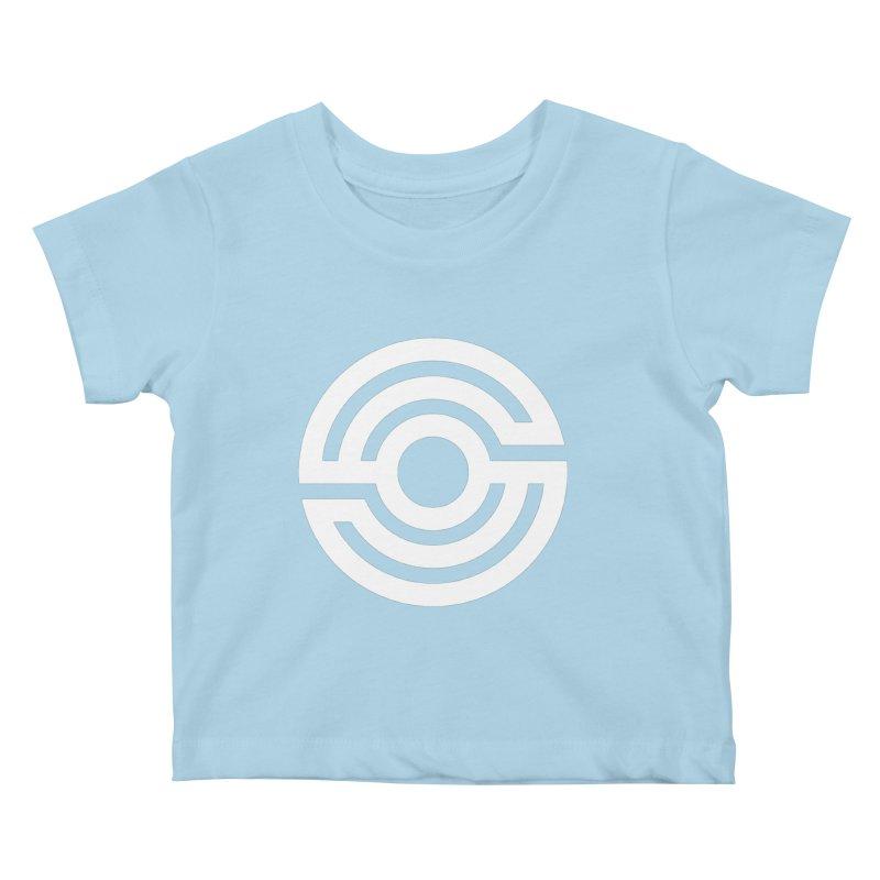 Handpan S Logo (White) Kids Baby T-Shirt by Handpan Merch (T-shirts, Hoodies, Accessories)