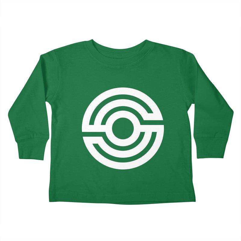 Handpan S Logo (White) Kids Toddler Longsleeve T-Shirt by Handpan Merch (T-shirts, Hoodies, Accessories)