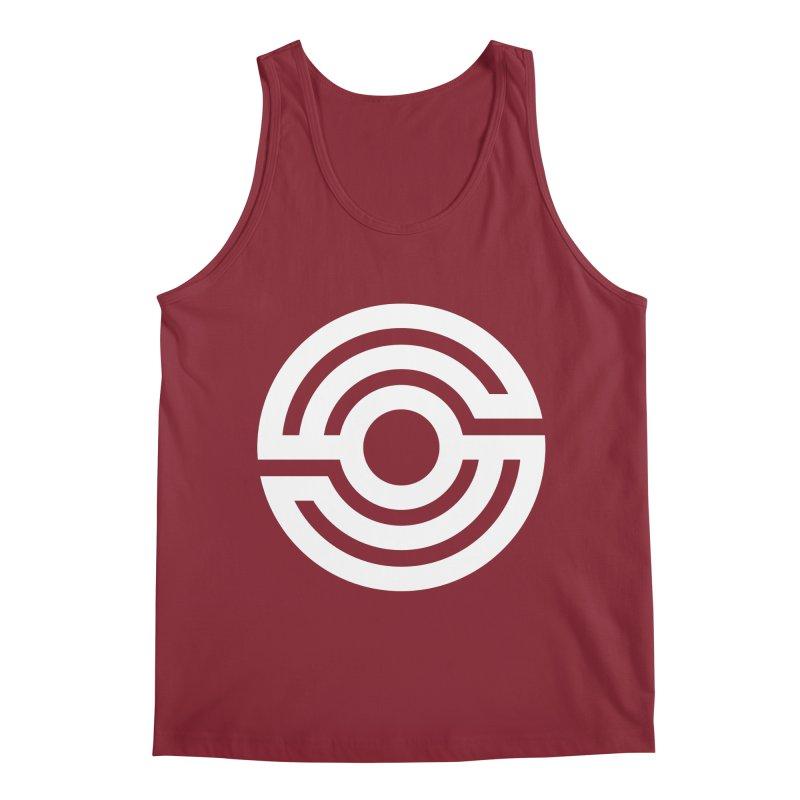 Handpan S Logo (White) Men's Regular Tank by Handpan Merch (T-shirts, Hoodies, Accessories)
