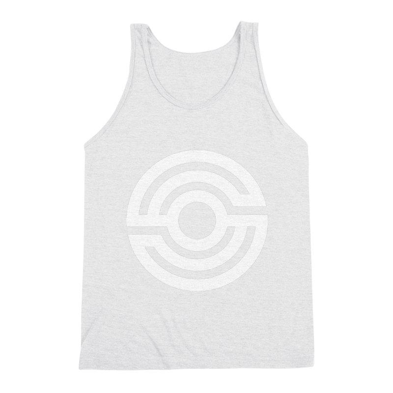 Handpan S Logo (White) Men's Triblend Tank by Handpan Merch (T-shirts, Hoodies, Accessories)