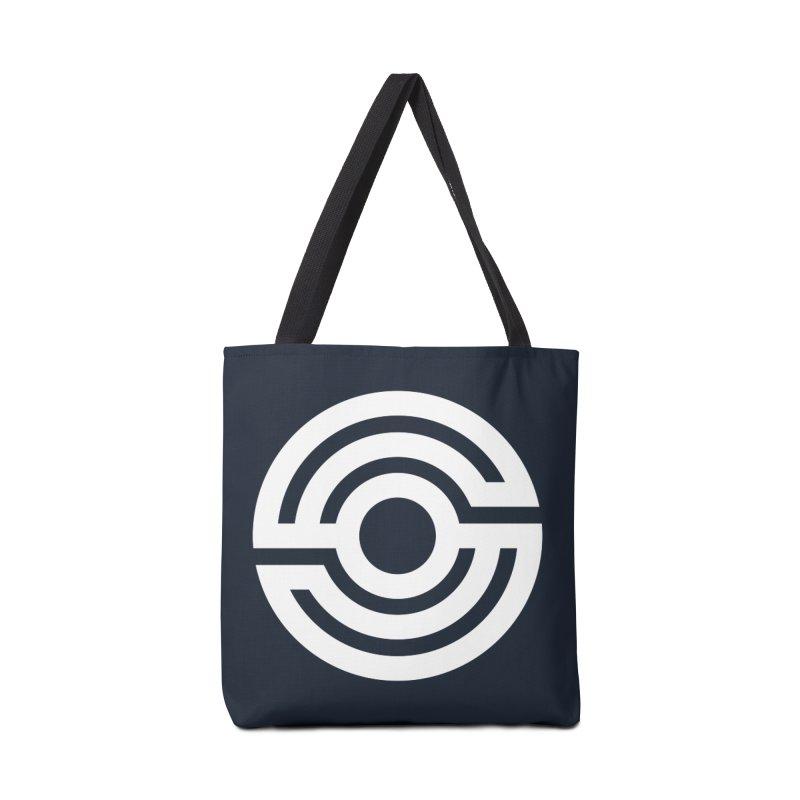 Handpan S Logo (White) Accessories Tote Bag Bag by Handpan Merch (T-shirts, Hoodies, Accessories)