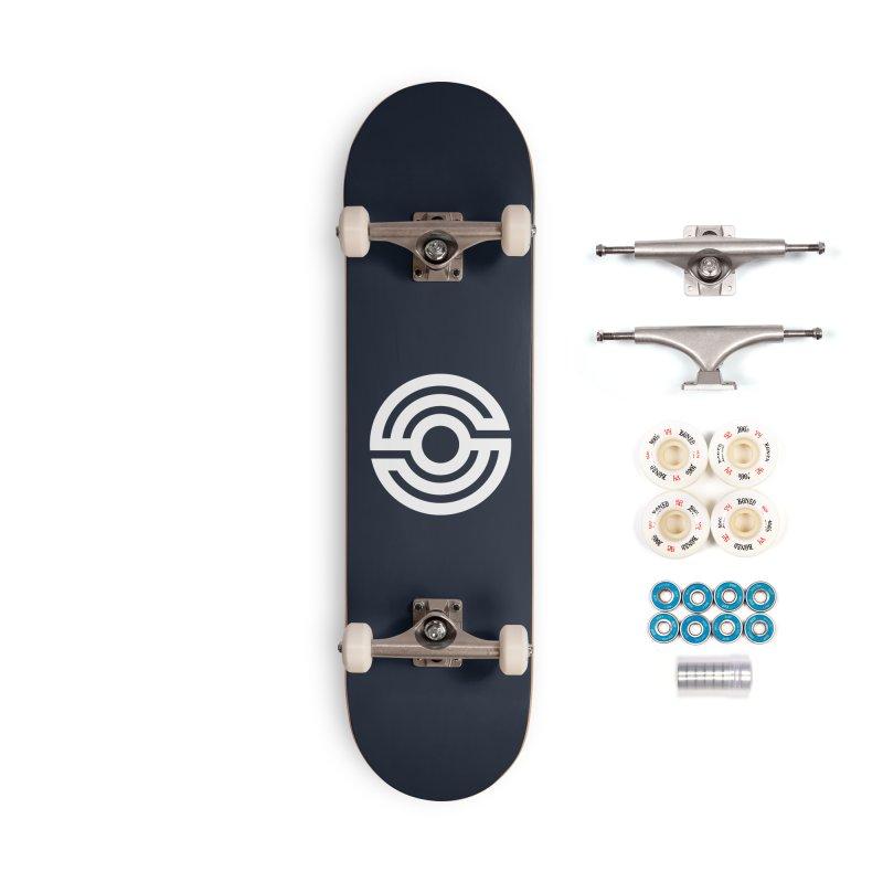 Handpan S Logo (White) Accessories Complete - Premium Skateboard by Handpan Merch (T-shirts, Hoodies, Accessories)