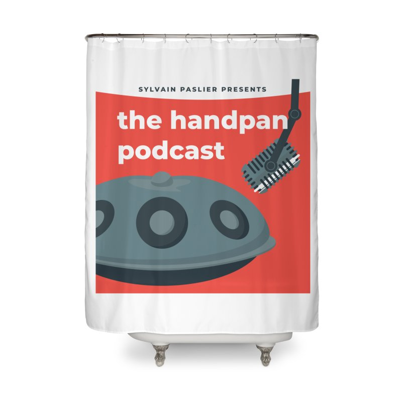 The Handpan Podcast Home Shower Curtain by Handpan Merch (T-shirts, Hoodies, Accessories)
