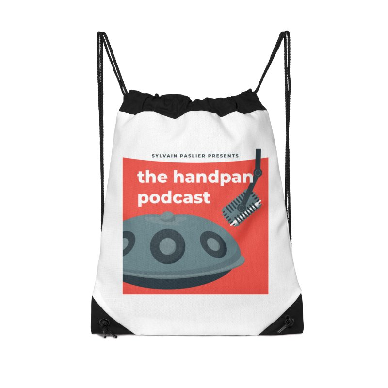 The Handpan Podcast Accessories Drawstring Bag Bag by Handpan Merch (T-shirts, Hoodies, Accessories)