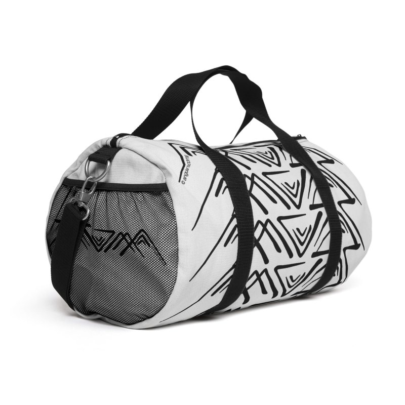 Angular Tacoma - Traditional Salish dark Accessories Bag by SymerSpace Art Shop