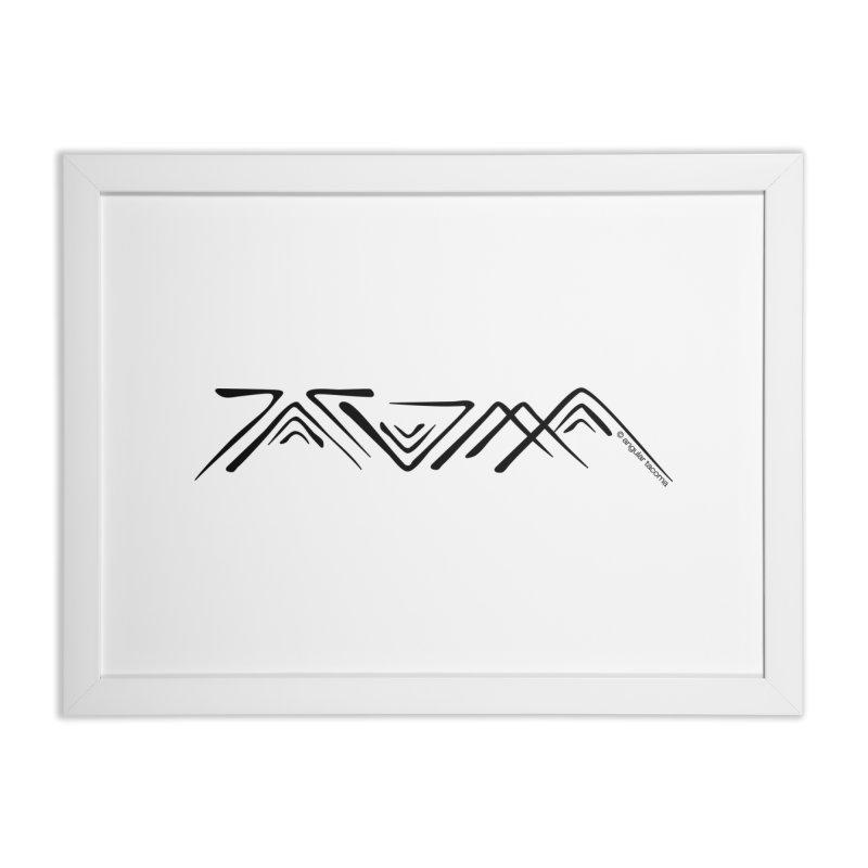Angular Tacoma - Traditional Salish dark Home Framed Fine Art Print by SymerSpace Art Shop