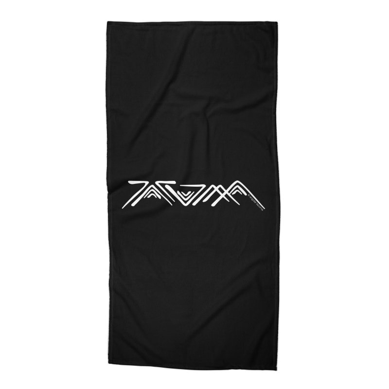 Angular Tacoma - Traditional Salish light Accessories Beach Towel by SymerSpace Art Shop