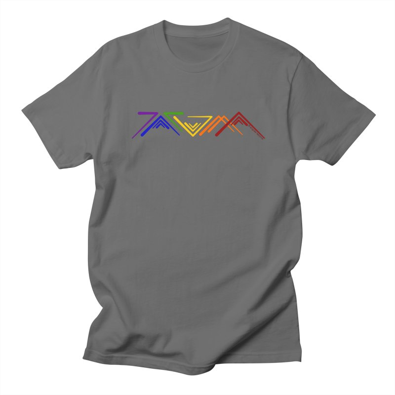 Angular Tacoma  - Modern Rainbow Pride Men's T-Shirt by SymerSpace Art Shop